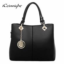 Buy iCeinnight Summer Elegant Women Handbag Solid PU Leather Women Big Shoulder Bags Zipper Soft Ladies Bag Bolsas Femininas tote for $19.89 in AliExpress store