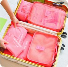 6 pz/set fashion doppia cerniera poliestere impermeabile uomini e donne bagaglio borse da viaggio imballaggio cubi(China (Mainland))