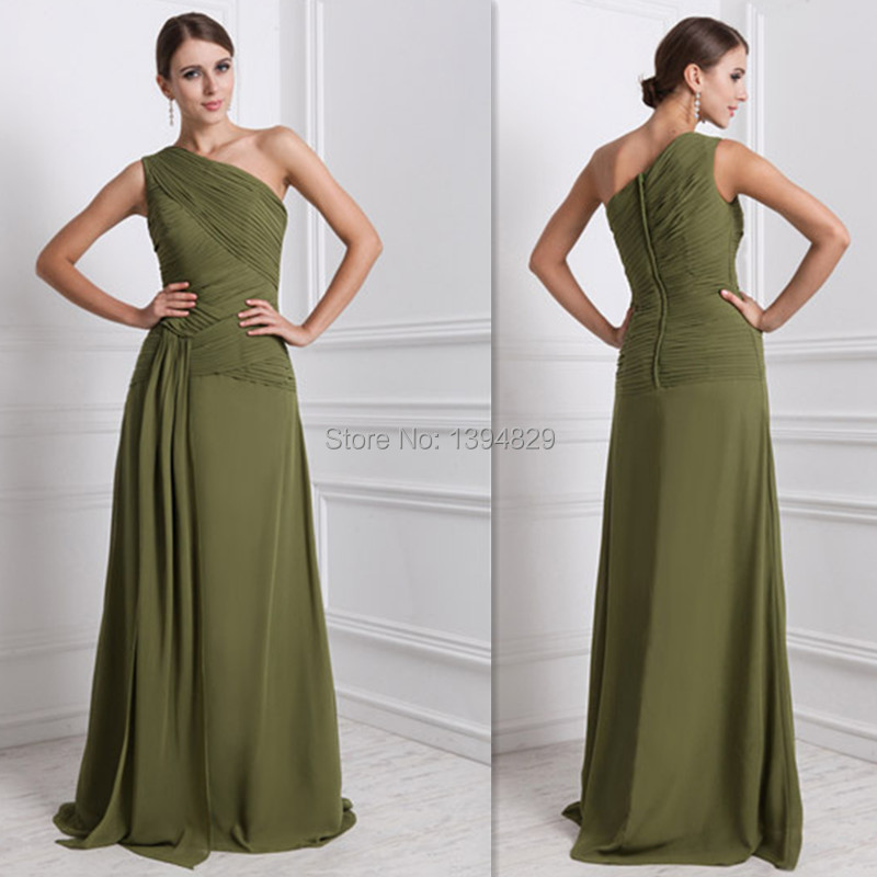 Olive green wedding gowns the image kid for Olive green wedding dresses