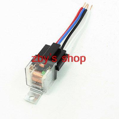5 Pcs Clear Insulating Shell Green Indicator 4 Pin Car Relay 24VDC 40A<br><br>Aliexpress