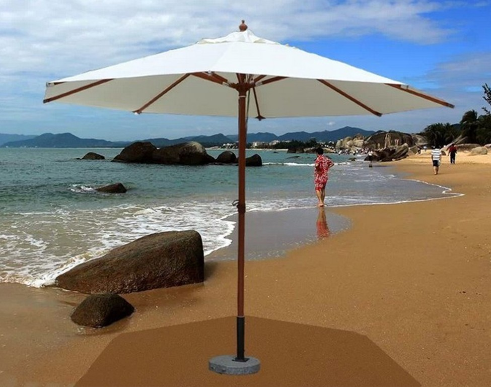 Column umbrella outdoor umbrellas beach Garden hand courtyard villa<br><br>Aliexpress