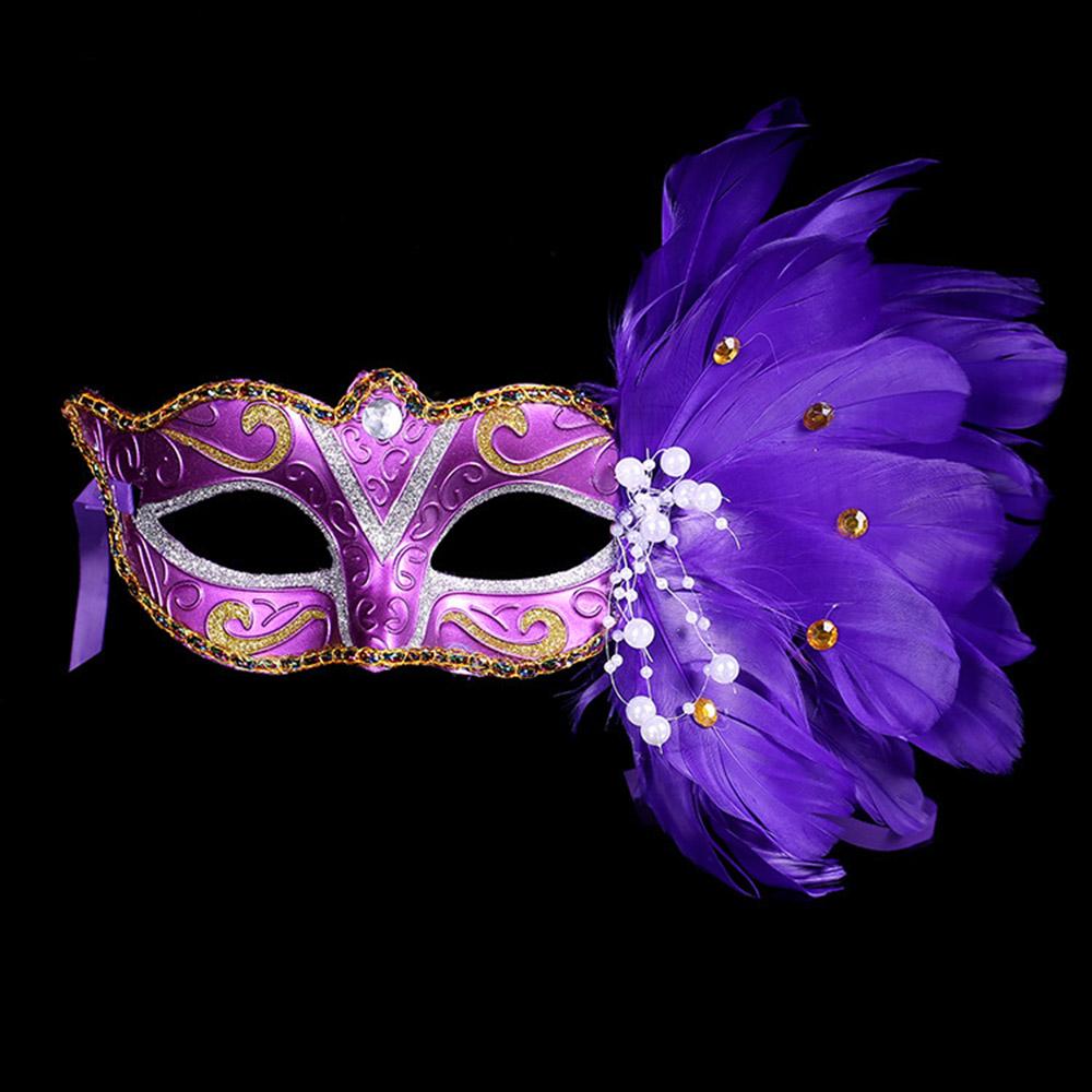 Masquerade Feather Sexy Venetian Mask Women For Face Multi Color Princess Mask Sexy Half Hallowmas Feather Masks Decor HG0150(China (Mainland))