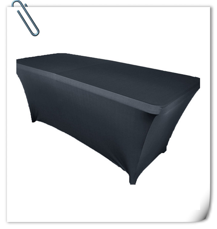 Hot sale & Hot sale !!! 10pcs 6ft Black Rectangle Spandex Table Cloths180*60*75cm & Elastic table cloth Free Shipping(China (Mainland))