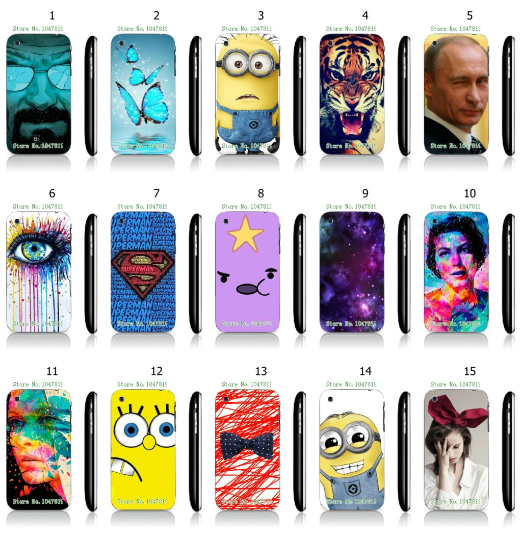 Mobile Phone Case Hot 1pc Spongebob Superman Hybrid Design Protective White Hard IPHONE 3 3GS - allmobilecase store