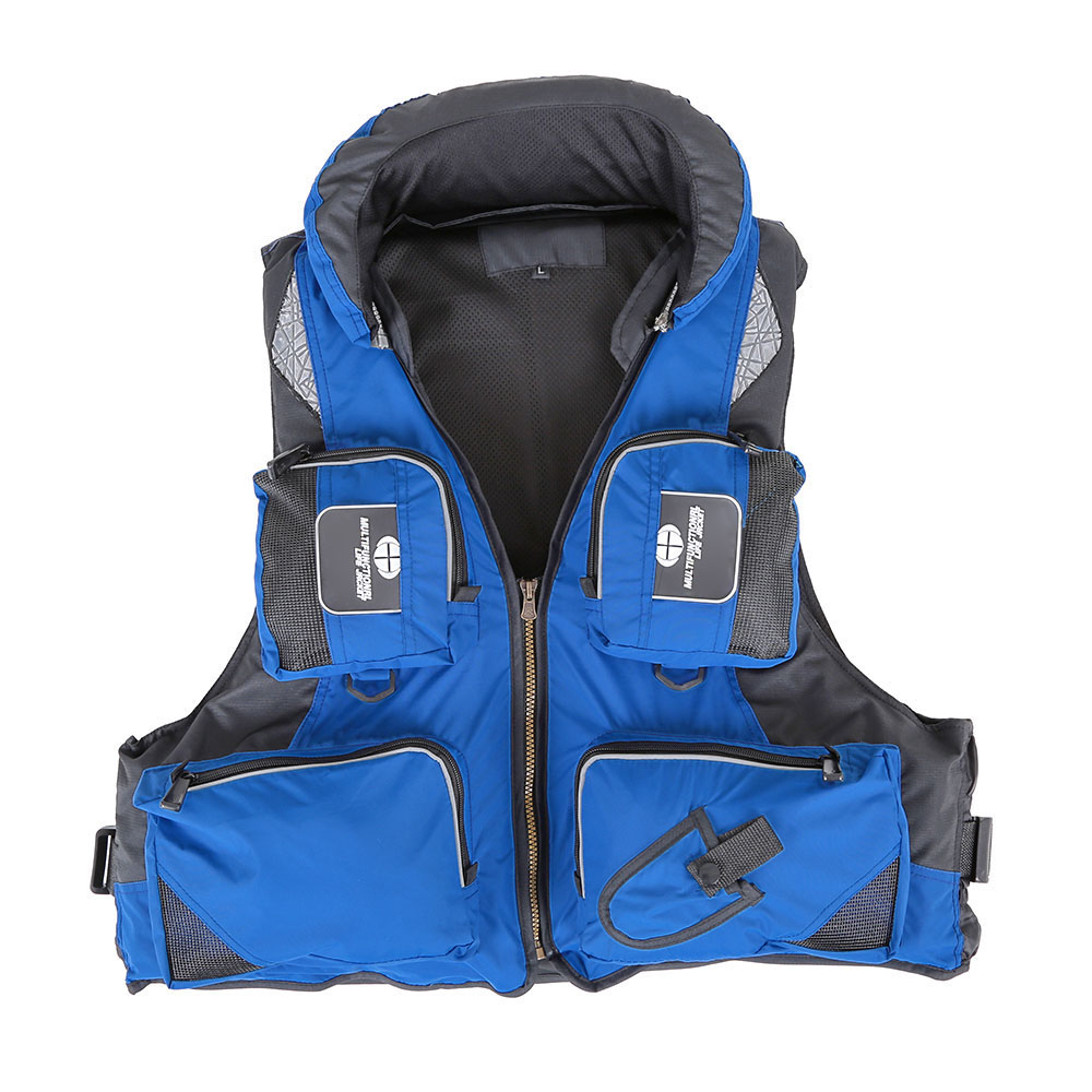 Polyester Professional Adult Safety Life Jacket Survival Vest for Fishing Swimming Boating Drifting(China (Mainland))