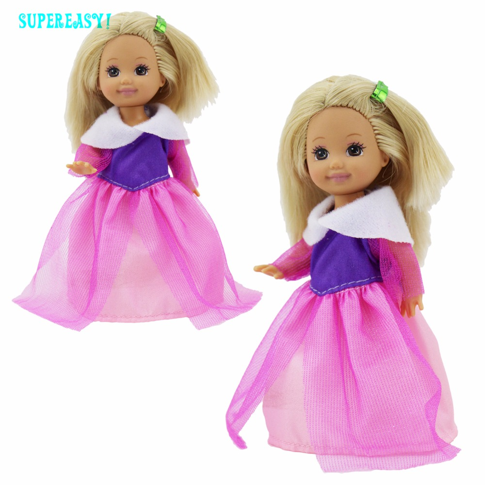 Random 5 Set Cute Mini Outfit Shirt Trousers Pants Uppers Bottoms Costume Garments For Barbie Sister Kelly Dimension Doll Child Toys Reward
