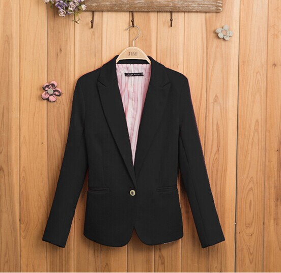 Fashion Jacket Blazer Women Suit Foldable Long Sleeves Lapel Coat Lined Striped Single Button Vogue Blazers Jackets - Hong Kong Westline International Trade Co., Ltd. store
