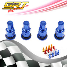 GRT  - 4 RAYS RACING FORGED ALUMINUM VALVE STEM CAPS WHEELS RIMS UNIVERSAL  Blue Silver Black Golden Red(China (Mainland))