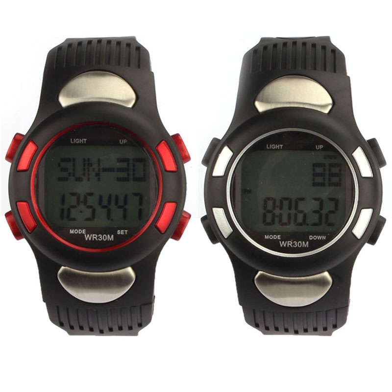 Scolour 2016 New Fitness 3D Pedometer Calories Counter Sport Watch Pulse Heart Rate Monitor Waist Watch Free Shipping(China (Mainland))