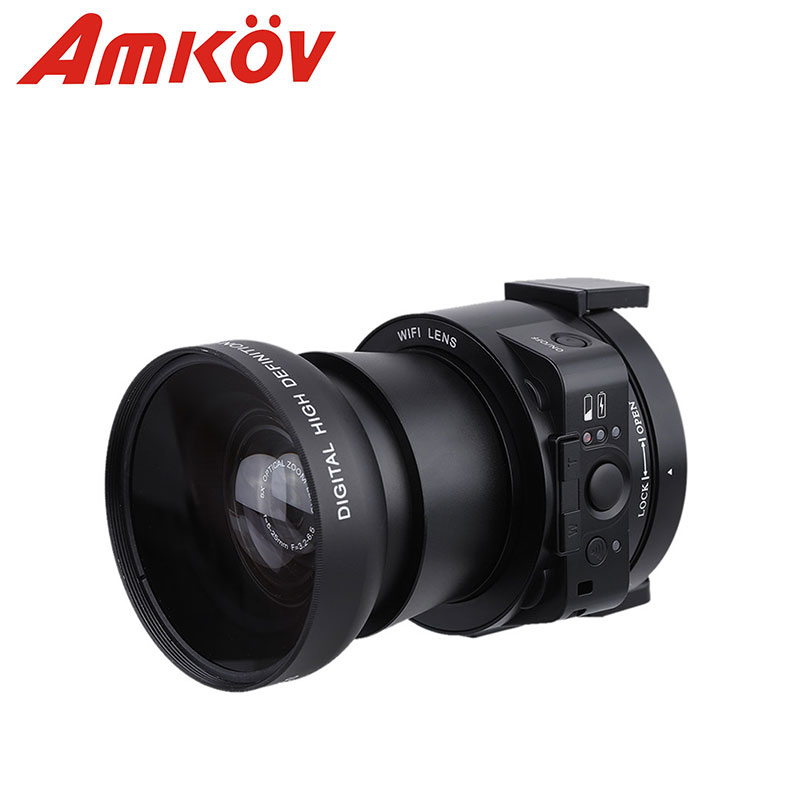 AMKOV OX5 4X digital 5X Optical Zoom Wifi Digital Camera Camcorder Mini Selfie Lens-style 20MP Full HD 1080P 30fps PC Camera(China (Mainland))