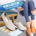 2016 summer and autumn Women s comfortable leather flat shoes casual shoes