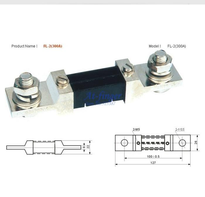 DC 300A/75mV Setpoint Shunt Resistor for 0-300A Digital Ammeter Gauge AMP Panel Meter shunt for Current Tester<br><br>Aliexpress
