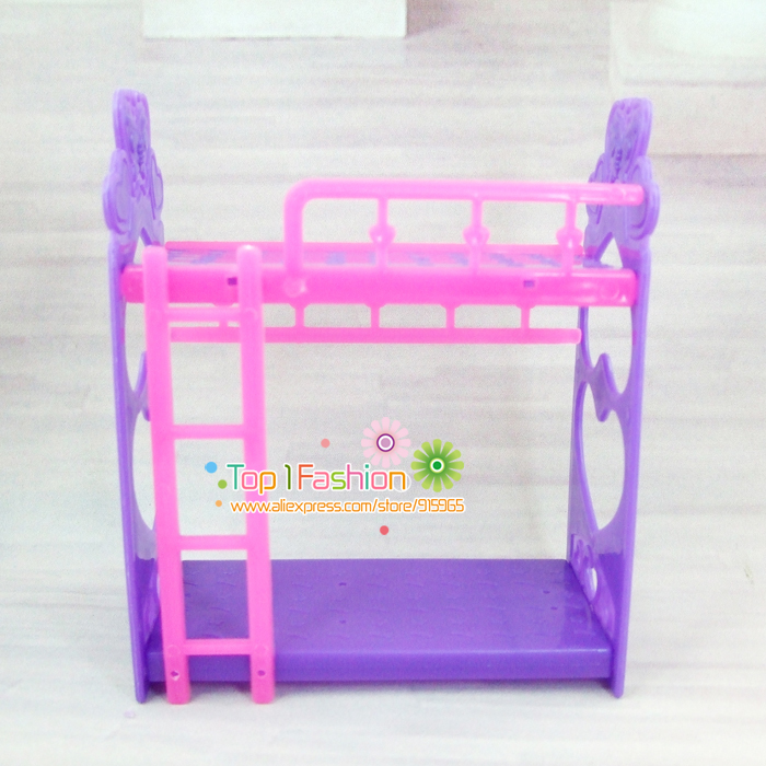 Free shipping girl birthday gift plastic bed for barbie doll mini kelly doll  play house accessories. Online Buy Wholesale barbie toys house from China barbie toys