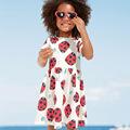 Baby Girls Summer Dress Tunic 2017 Brand Robe Fille Ladybug Print Kids Birthday Dress Princess Costume