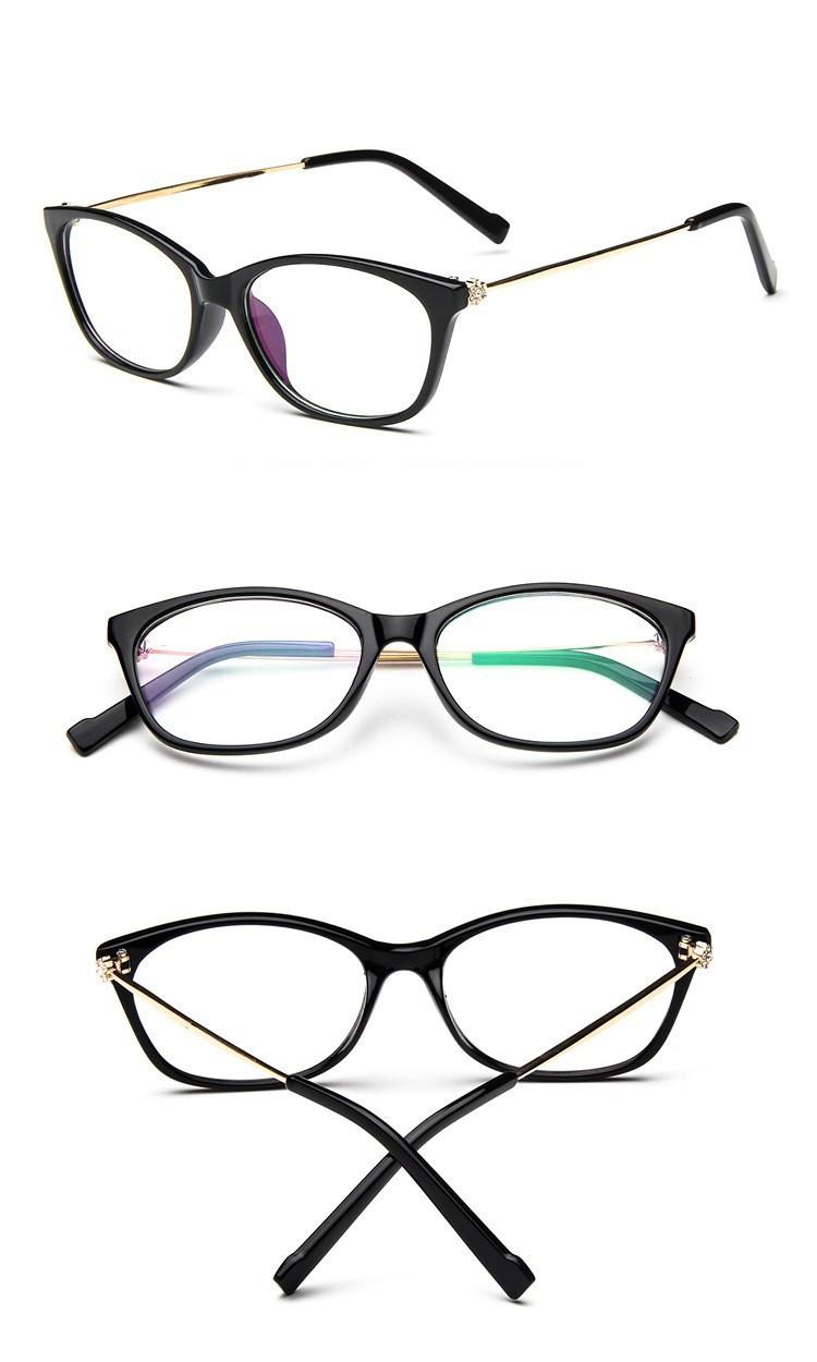 2016 Brand Design Diamond Spectacle Frame Women Eyeglasses Frames Women Computer Reading Optical clear lens Frame Eye Glasses (11)