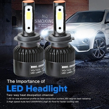 Buy CARPRIE H7 110W 16000LM LED Headlight Conversion Kit Car Beam Bulb Driving Lamp 6000K TJ for $18.44 in AliExpress store