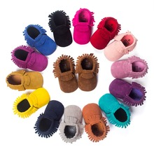 Hot PU Suede Leather Newborn Baby Boy Girl Baby Moccasins Soft Moccs Shoes Bebe Fringe Soft Soled Non-slip Footwear Crib Shoe(China (Mainland))