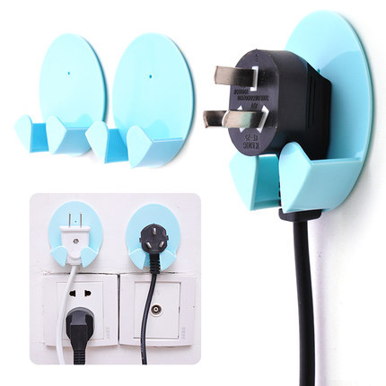 HOME power cord plug hooks Cable Manager Office Wire storage rack Kitchen Bathroom home wire organize sticky hooks(China (Mainland))