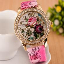 Hot Sale Trustworthy rhinestone quartz watch flower Bohemian style casual watches women dress wristwatch CC2272