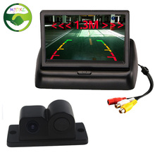 "3 in1 Sound Alarm Reversing Backup Auto Parking Sensor With Rear View Camera + 4.3"" Car Foldable Monitor(China (Mainland))"