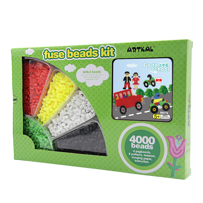 4000pcs Perler Beads 3d Puzzle Toy 5mm Hama Beads food grade EVA Fuse beads for Children Educational jigsaw puzzle Toys(China (Mainland))