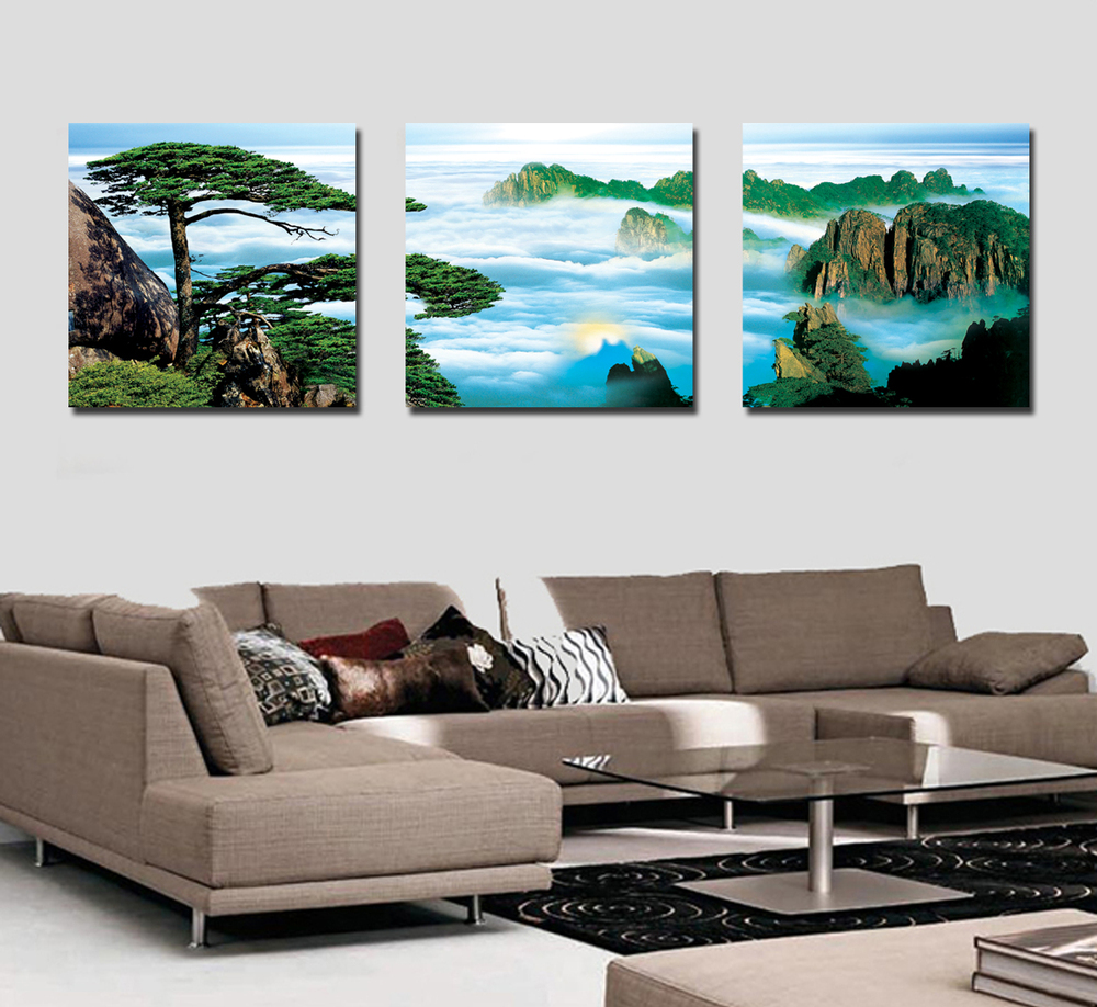 After the summit welcoming pine frame painting decorative painting the living room sofa office study mural paintings prints trip<br><br>Aliexpress