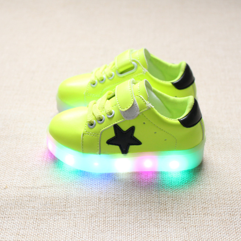 children shoes with light 2016 autumn baby boys girls shoes chaussure led enfant child fashion breathable boys sneakers EU21-25(China (Mainland))