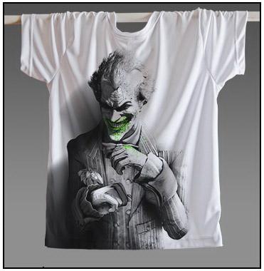 Men Hot Sale Joker Heath Ledger T Shirt Vintage Movie Batman 2 The Dark Knight Rises Tshirts Custom Funny Print T Shirt(China (Mainland))