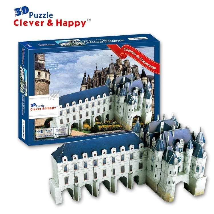 Top World famous buildings Jigsaw Model 3D Puzzle France Chenonceau DIY Xmas Gift Toys childrens day Learning Education - Fashion Shop 7 store