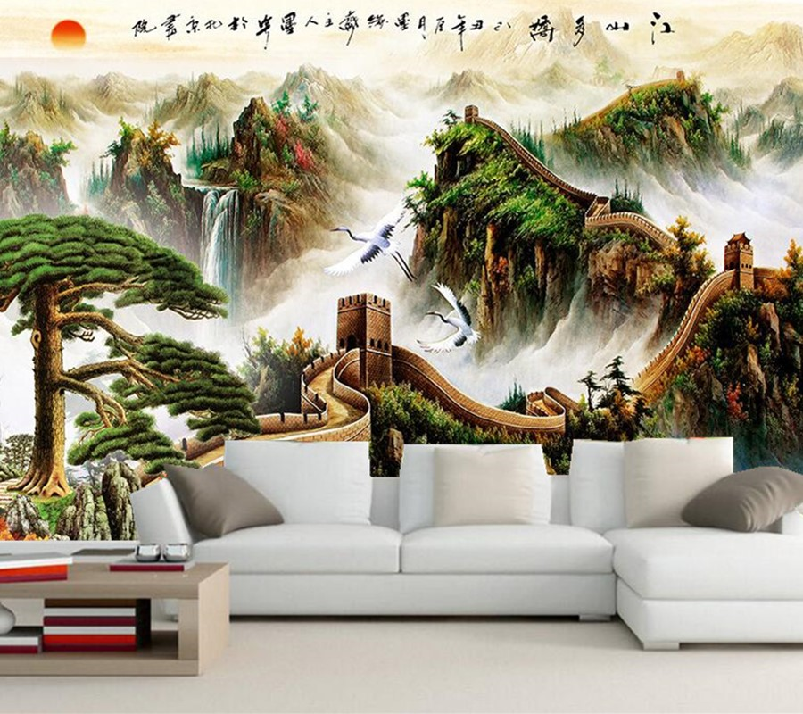 Online buy wholesale great wall wallpaper from china