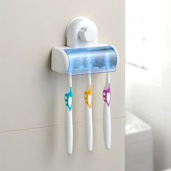 Free shipping Set 5 Toothbrush Holder Stand Rack Bathroom Accessory