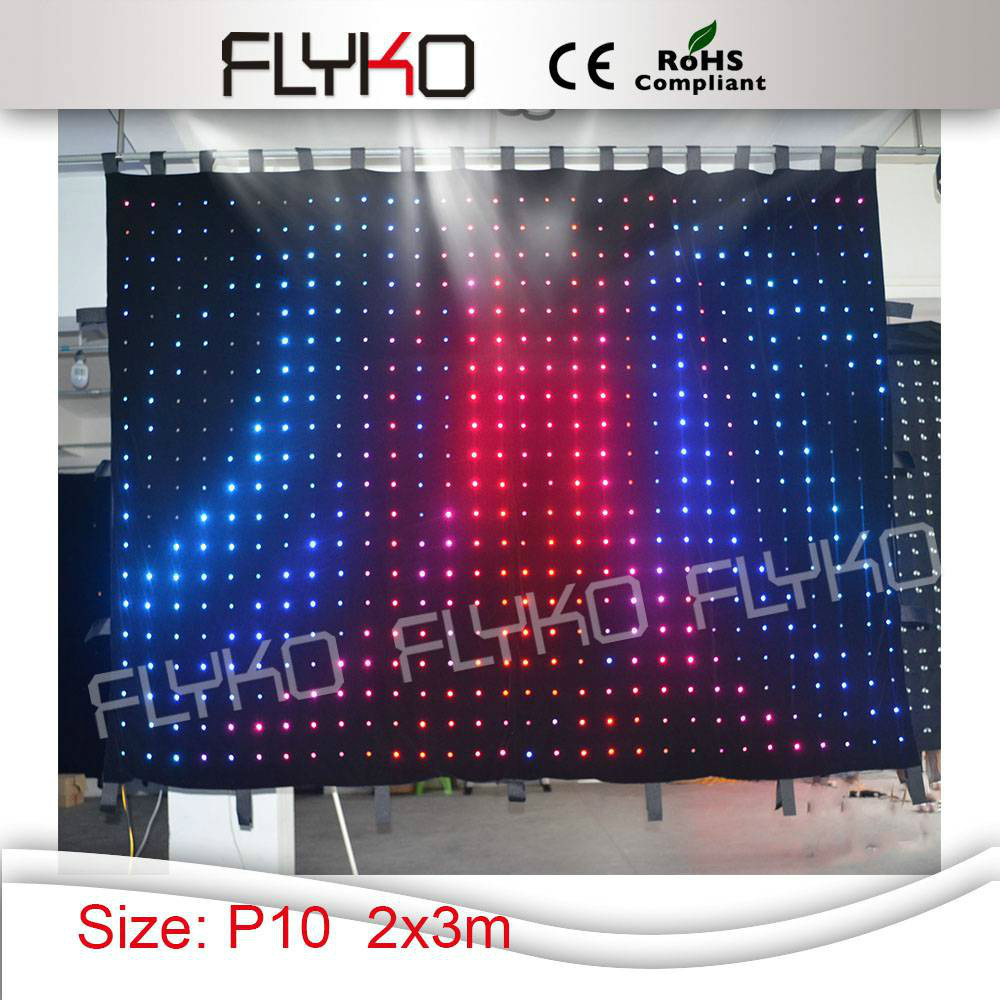 Free shipping P10 2x3m best price flexible indoor led video cloth,text, gif display(China (Mainland))