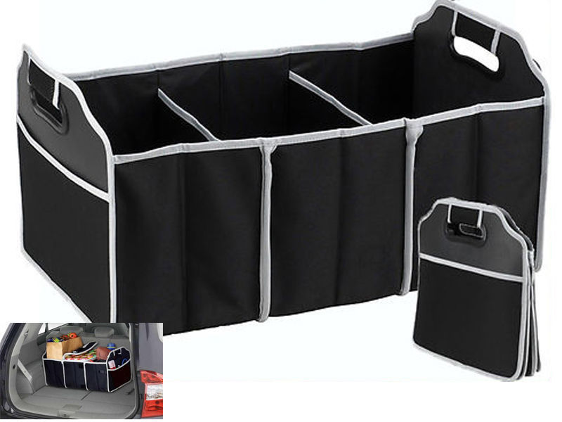 Free Shipping 2-in-1 Car Boot Organiser Shopping Tidy Heavy Duty Collapsible Foldable Storage(China (Mainland))