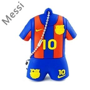 Wholesale sports fashion cool jersey Messi pen drive football series usb flash drive 4GB 8GB 16GB 32GB cartoon chains gift(China (Mainland))