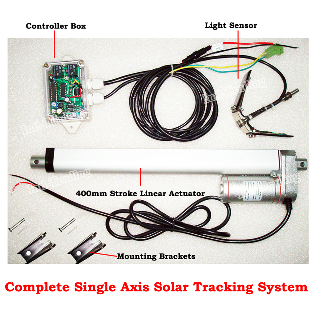 "Single Axis Complete 1KW Solar Tracker Kit-Sun Tracking-16"" 12V DC Linear Actuator for Solar energy Automatic Control System(China (Mainland))"