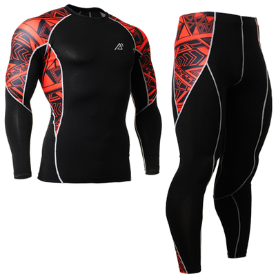 Men's Compression Base Layer Brand Skin Tights Fitness Training Running Surfing Gym Workout C2LSets XS-4XL(Shirts+Pants)(China (Mainland))
