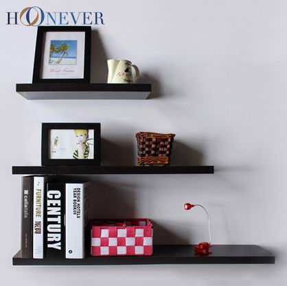 TK0105/50cm Long Black Living Room Bathroom Kitchen Straight Floating Wall Shelves Home Decoration wall wooden shelf(China (Mainland))