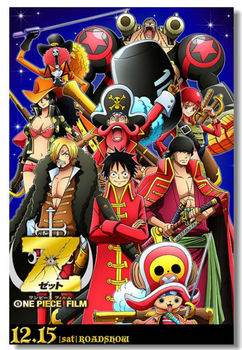 ONE PIECE Z OP The Wanted Cloth Silk Wall Poster 48x32,36x24,20x12 inch Big All Cast Comic Anime Prints Luffy Film Movie (360)