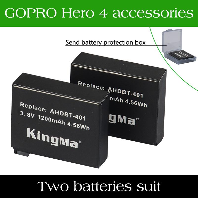 Original 2pcs Battery For GoPro HERO4 Black HERO4 Silver Go pro HERO 4 and Go Pro AHDBT-401 AHDBT 401 AHDBT401 Free Shipping(China (Mainland))