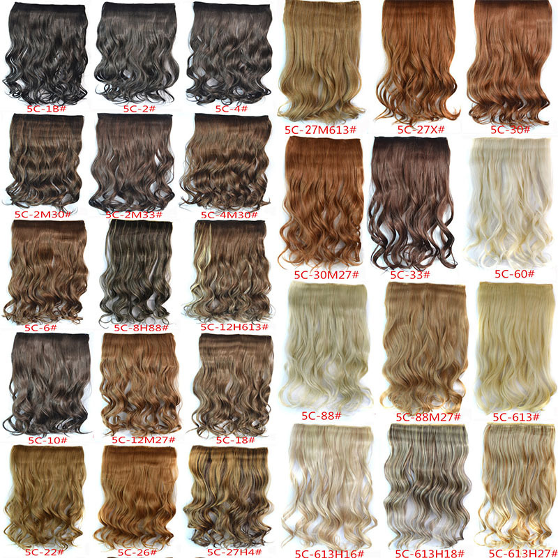 1PC+120G Woman Curly Clip In Hair Extension 29 Colors One Piece For Full Head Long Wavy Curly Hair Extension Hairpieces Hairdo(China (Mainland))