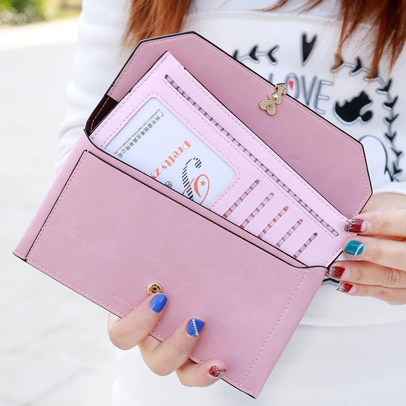 Hot New Korean Fashion Women Wallet Simple Solid Fresh Love Rivet Ladies Purse 2 Fold Hasp Clutch Coin Pocket Card Holder<br><br>Aliexpress