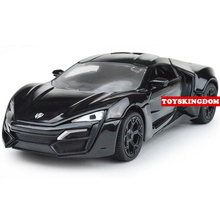 Buy Hot movie Fast & Furious 1:32 Lykan Hypersport diecast super sports metal cars light sound pull back alloy toys collection for $15.05 in AliExpress store