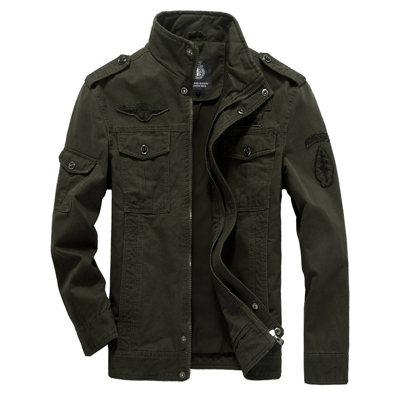 Men <font><b>jacket</b></font> jean military Plus size 6XL army soldier Washing cotton Air force one male clothing Spring Autumn Mens <font><b>jackets</b></font> 2015