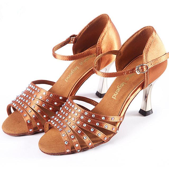 Brand Top Quality 7.5cm/3inch High Heeled Ladies' Latin/Salsa/Ballroom Dance Shoes Luxry Rhinestone 1812#