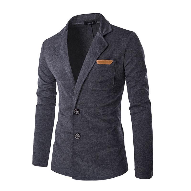 2017 New Men Blazer Fashion Slim Casual Blazer For Men Brand Mens Suit Jacket Outerwear Male 5 Colors XXL NNSAQ