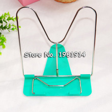 Free Shipping Portable Adjustable Steel Book Document Holder Frame Reading Desk Book Stand Bookrest Bookstand(China (Mainland))