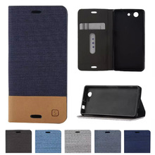 Buy Flip Case Sony Xperia Z 3 Compact Z3 mini D5803 D5833 M55W Denim Magnetic Flip Leather Phone Cover Z3Compact Z3mini para for $4.07 in AliExpress store