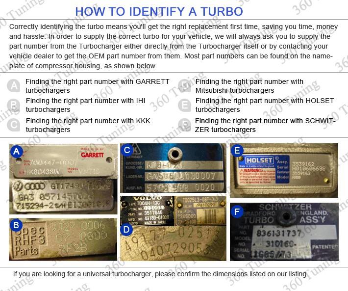 Turbo Turbocharger Turbine for Nissan Skyline