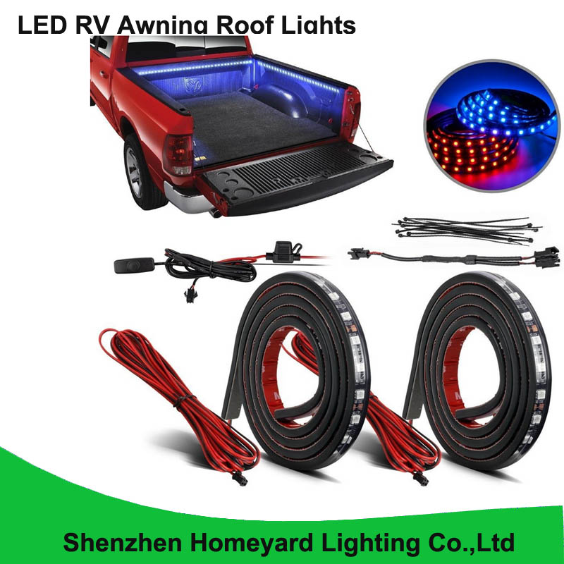 """1set/pcs 60"""" Blue&Red LED RV Awning Roof Lights Custom Made 90-5050-SMD Truck Bed Light for pick up(China (Mainland))"""