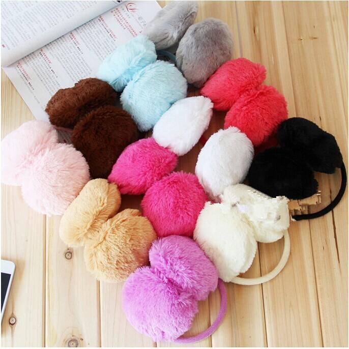 1Piece Women/Girl Fluffy warm Earmuffs U Pick New colorful Earmuffs Ear Warmers Ear Muffs Earlap Winter Warm(China (Mainland))